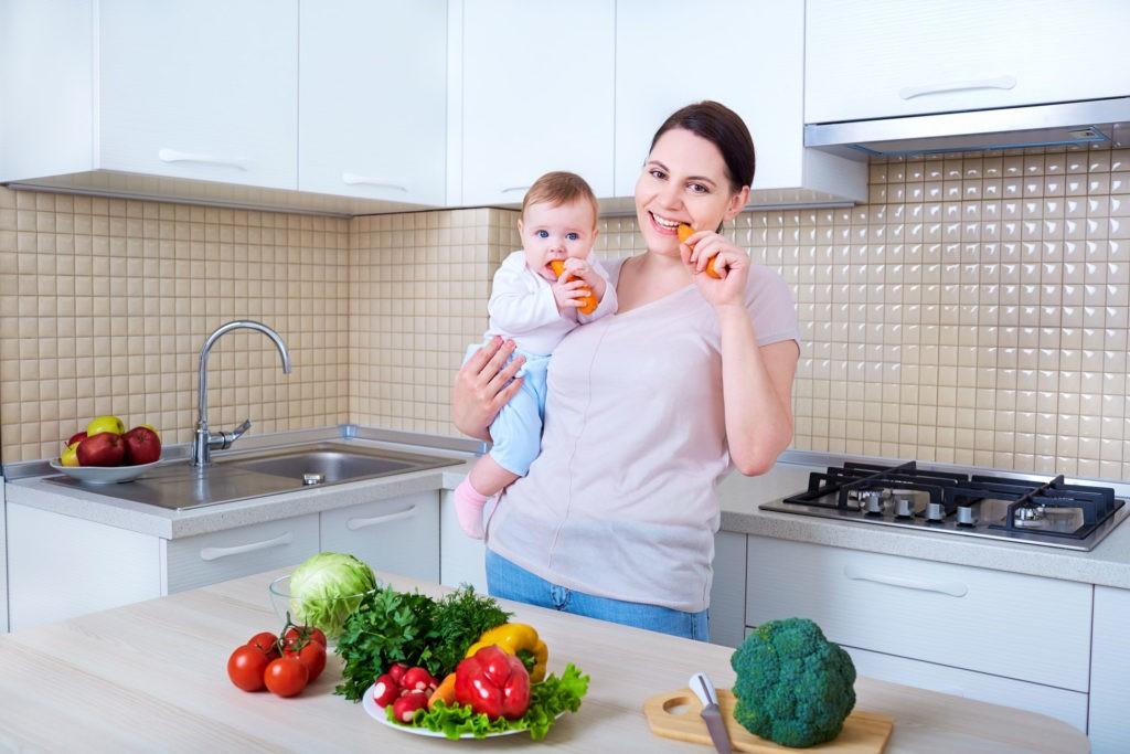 Питание кормящей мамы по месяцам - меню и рацион питания